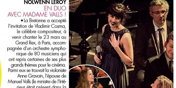 Nolwenn Leroy en concert avec la femme de Manuel Valls (photo)