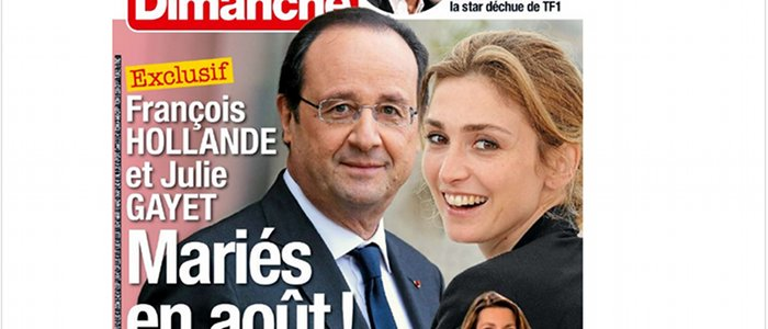 fran ois hollande et julie gayet mari s en ao t selon france dimanche. Black Bedroom Furniture Sets. Home Design Ideas