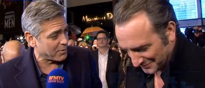 Jean dujardin et george clooney en couple selon oops for Jean dujardin couple 2014