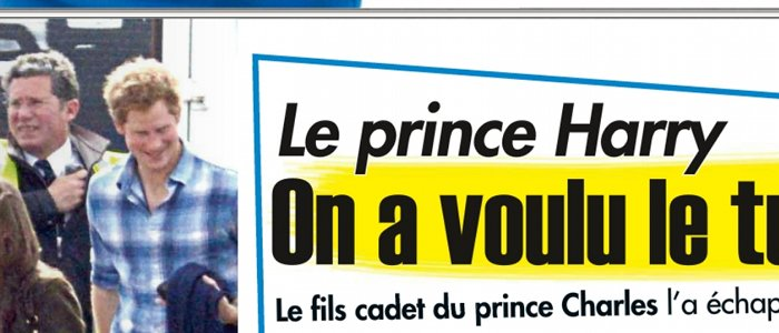 Le prince Harry attentat