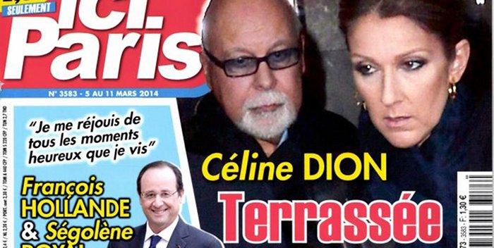 Céline Dion terrassée par un cancer dans Ici Paris