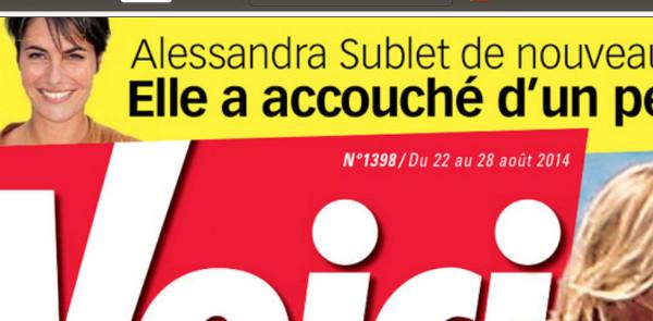 Alessandra Sublet un conge maternité ultra court