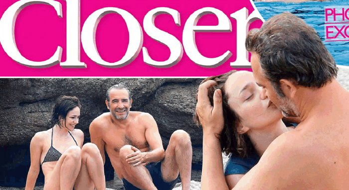 Nathalie p chalat transforme jean dujardin dans closer for Jean dujardin couple 2014