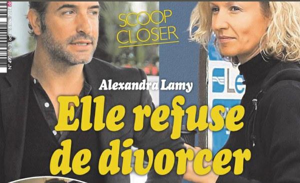 S par d 39 alexandra lamy jean dujardin dit non au psy for Jean dujardin et ses enfants