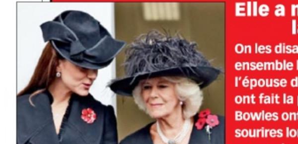 Kate Middleton, une paix de façade avec Camilla Parker-Bowles