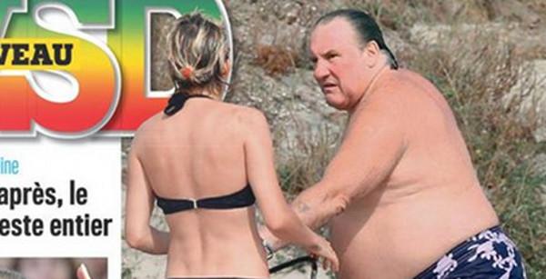 Gérard Depardieu et Clémentine Igou irrités après des vacances