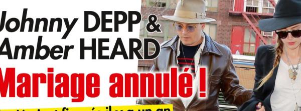 Johnny Depp et Amber Heard, mariage annulé