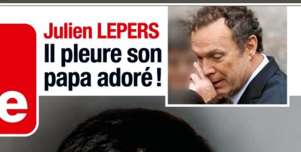 Julien Lepers se cache pour pleurer son père
