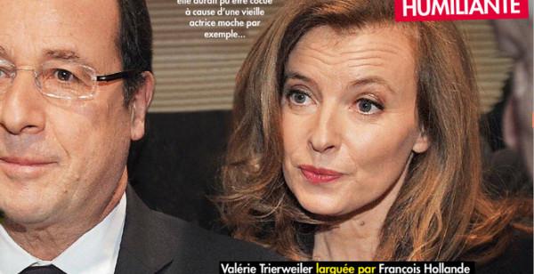 Valérie Trierweiler et François Hollande, la séparation la plus violente en 2014