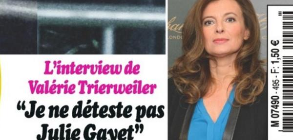 Valérie Trierweiler, un pas vers Julie Gayet qu'elle ne déteste pas