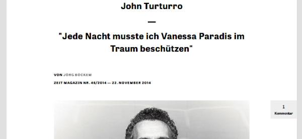 Vanessa Paradis hante les rêves de John Turturro