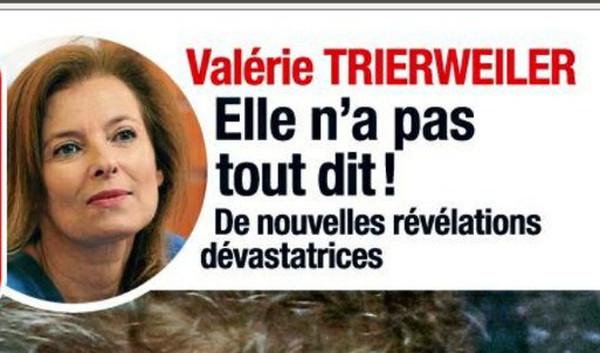 Valérie Trierweiler, un peu déprimée selon Le Parisien