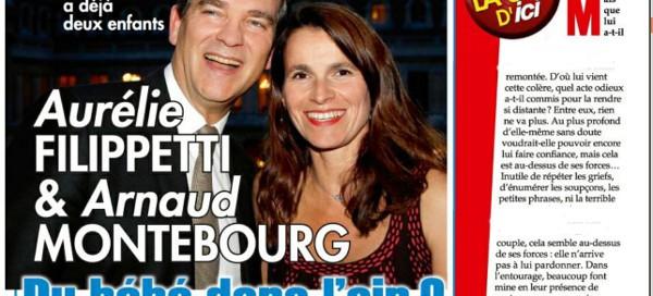 Aurélie Filippetti enceinte d' Arnaud Montebourg ?