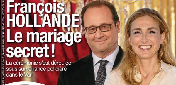 """Résultat de recherche d'images pour """"hollande et julie mariage"""""""
