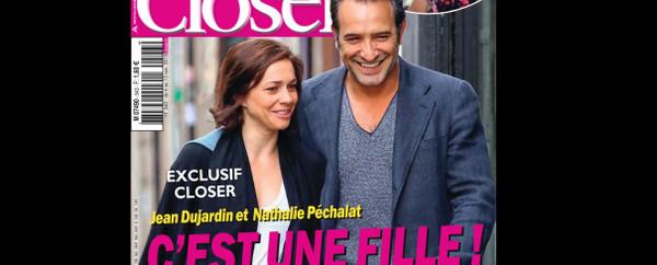 Jean dujardin et nathalie p chalat heureux parents d une for Gaelle demars