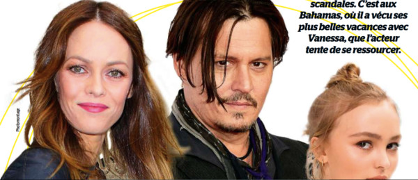 johnny depp et vanessa paradis incontr lables d couvrez un clich vintage. Black Bedroom Furniture Sets. Home Design Ideas