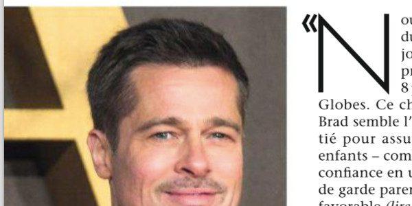 Brad Pitt heureux  de revoir ses enfants après des semaines d'éloignement