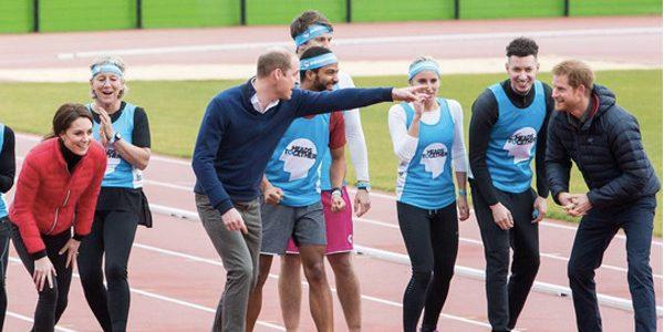 Kate Middleton, William, et Harry participent à un sprint. Qui a gagné ? (vidéo)