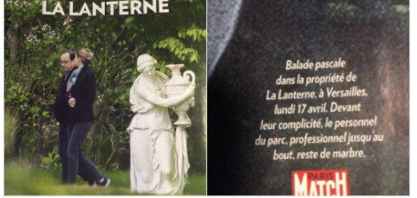 François Hollande et Julie Gayet en balade à la Lanterne. Paris Match dévoile les photos