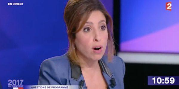 Léa Salamé irritée par une allusion de François Fillon à sa grossesse (vidéo)