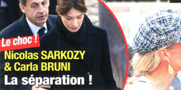 Nicolas Sarkozy Carla Bruni Le Choc La Separation La Raison