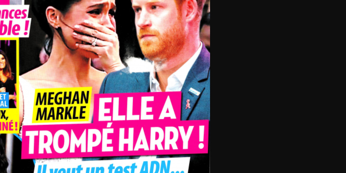 Meghan Markle – elle a trompé Harry, elle veut un test ADN